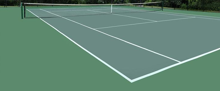 Running the Tennis Court Lines