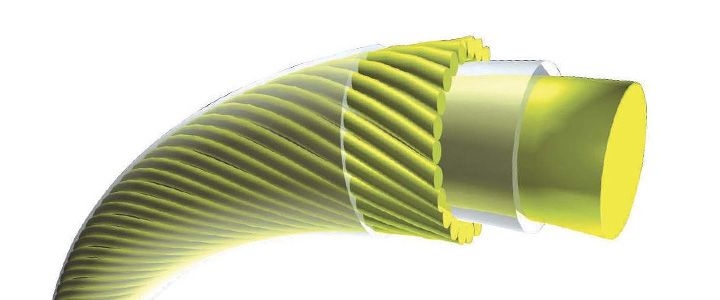 Tennis String With Multiple Outer Wraps