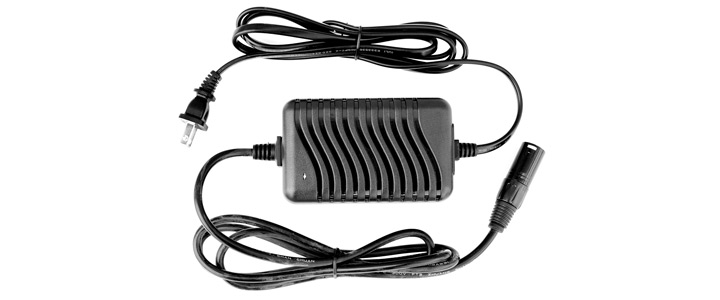 The Lobster Premium charger is black with a black chord.