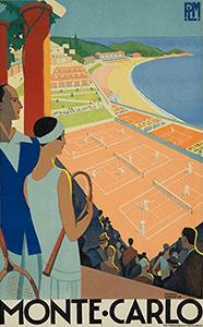 Tennis Art Gift - Monte Carlo