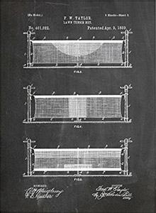 Tennis Art Gift - Net Patent
