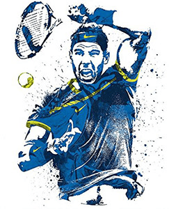Tennis Art Gift - Rafael Nadal