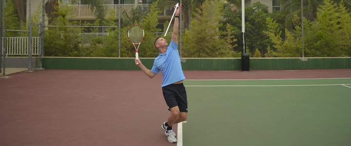 Tennis Serve Trophy Pose Keep Your Head Up
