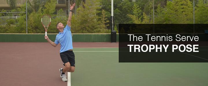 Tennis Serve Trophy Pose