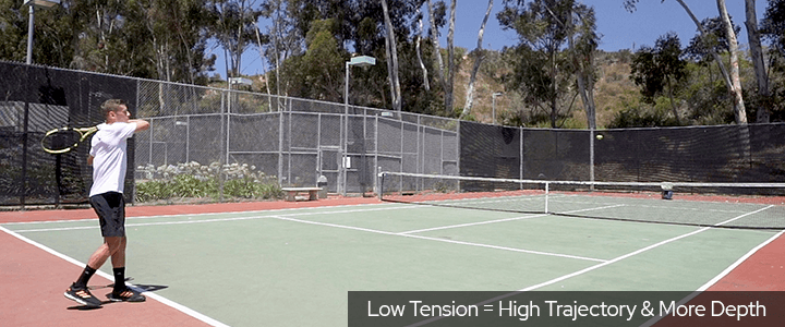 Tennis String Tension Low Tension Equals High Trajectory and More Depth