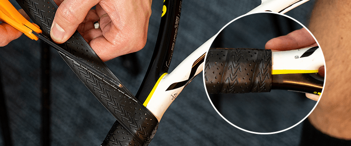 How to Install a Tennis Replacement Grip: Step 14