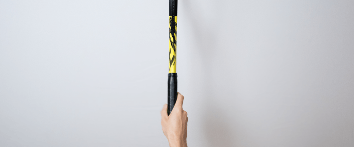 Continental Forehand Tennis Grip View from Above