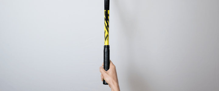 Eastern Forehand Tennis Grip View from Above