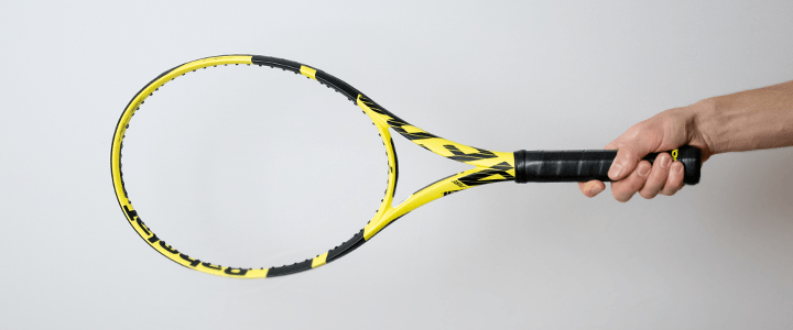 Eastern Forehand Tennis Grip View from Side Upright
