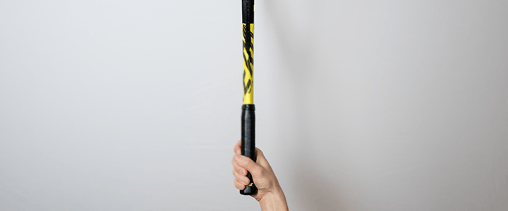 Semi-Western Forehand Tennis Grip View from Above