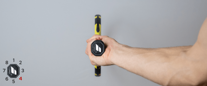 Semi-Western Forehand Tennis Grip View from Behind Guide