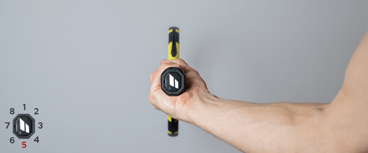Western Forehand Tennis Grip View from Behind Guide