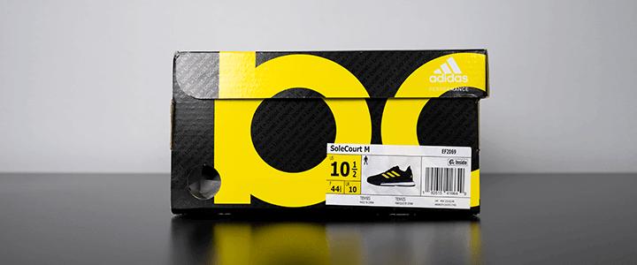 adidas SoleCourt Boost: Box Label