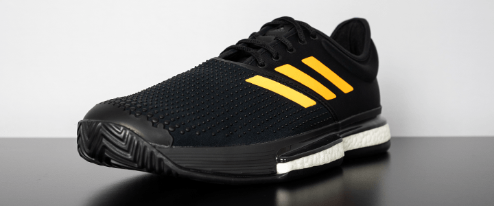 adidas SoleCourt Boost: Outside Edge Front