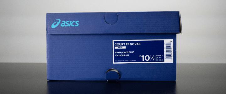 Asics Court FF 2: Box Label