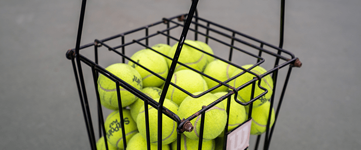 Tennis Ball Hopper Features to Consider - Lid