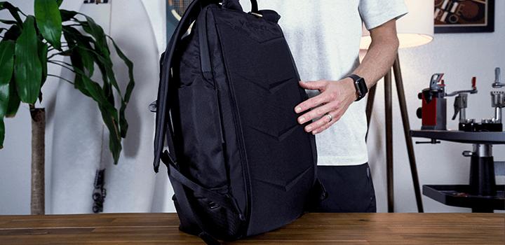 Vessel Baseline Tennis Backpack: Compression Molded Back Panel