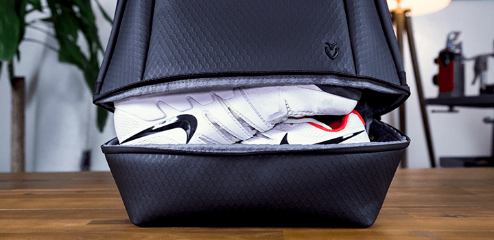 Vessel Baseline Tennis Backpack: Expandable Ventilated Footwear Compartment
