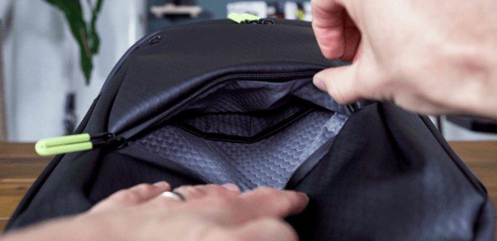 Vessel Baseline Tennis Backpack: Front Zip Pocket Inside