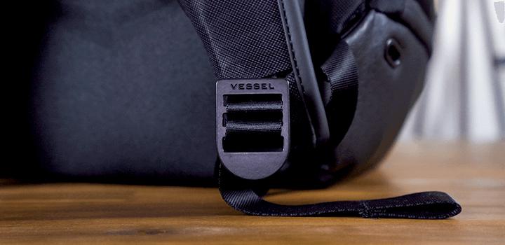 Vessel Baseline Tennis Backpack: Strap Adjusters Logo