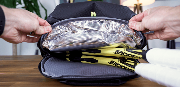Vessel Baseline Tennis Backpack: Thermal Lined Racquet Compartment