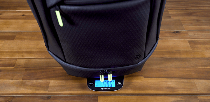 Vessel Baseline Tennis Backpack: Weight