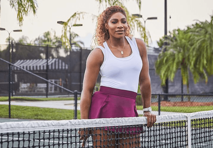 Serena Williams - Tennis Skirt Outfit with Tank Top