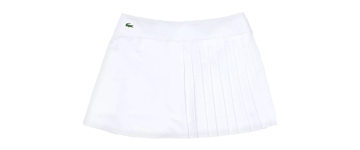 Styles of Tennis Skirts: Asymmetrical - Lacoste